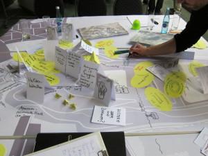 Bürgercafé und Bürgerforum erfreuten sich reger Beteiligung. In kreativer Atmosphäre entstand ein umfangreicher Ideenkatalog.